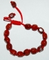 Mobile Preview: Shamballa-Stil Armband Jaspis rot-Nuggets, ca. 17-23 cm lang