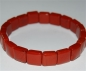 Mobile Preview: Armschmuck Squarearmband Jaspis rot, ca. 10x10 mm