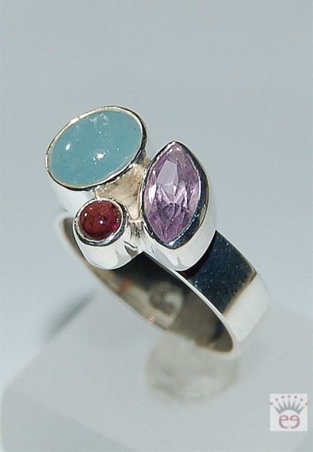 Silberring in Multicolor
